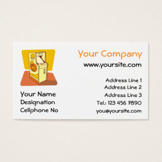 Tall arcade game console business card
