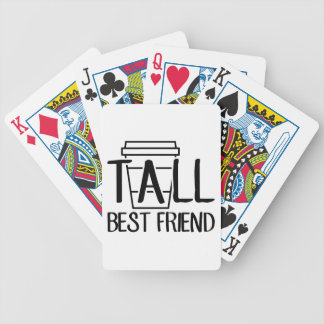 Tall Best Friend Bicycle Playing Cards