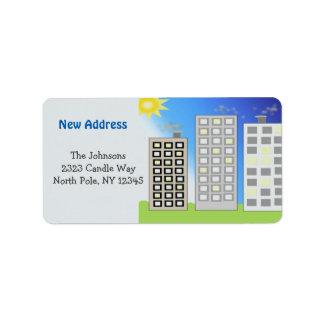 Tall Buildings New Address Label