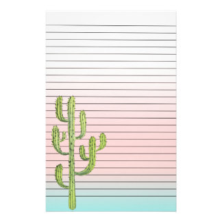 Tall Cactus and Desert Sunset Stationery