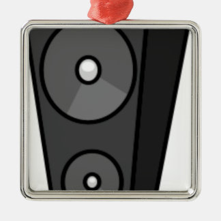 Tall Cartoon Speaker Metal Ornament