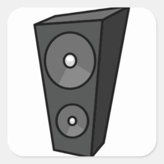 Tall Cartoon Speaker Square Sticker