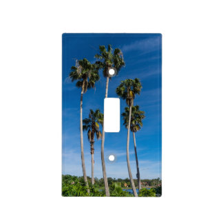Tall Curving Palms Light Switch Cover