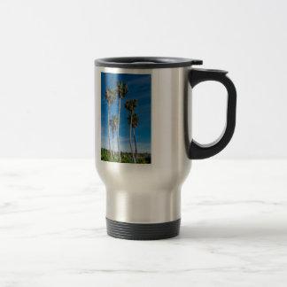 Tall Curving Palms Travel Mug