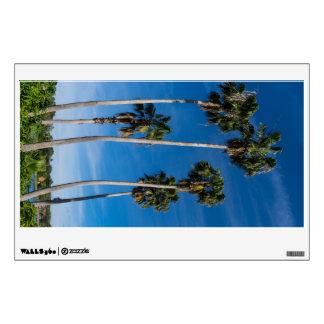 Tall Curving Palms Wall Sticker