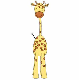 Tall Cute Giraffe. Cartoon Animal. Acrylic Cut Outs