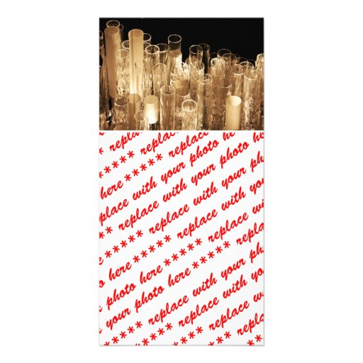 Tall Glass Lights Picture Card