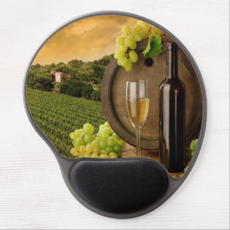 Tall Glass of White Wine Gel Mouse Pad