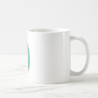 Tall Green Art Deco Glass Vase Coffee Mug