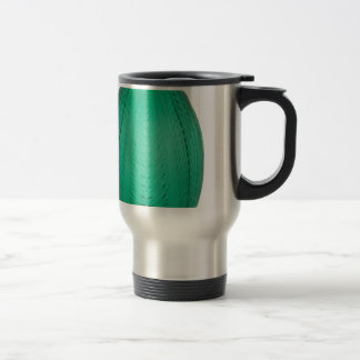 Tall Green Art Deco Glass Vase Travel Mug
