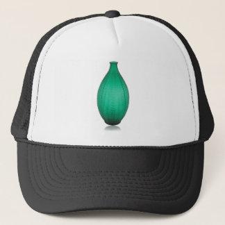 Tall Green Art Deco Glass Vase Trucker Hat