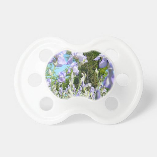 Tall Lavender Freesia Pacifiers