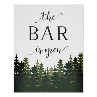 Tall Pines Wedding Bar Sign