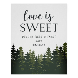 Tall Pines Wedding Dessert Table Sign