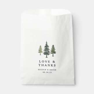 Tall Pines Wedding Thank You Favour Bag
