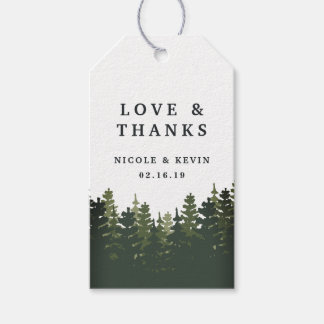 Tall Pines Wedding Thank You Pack Of Gift Tags