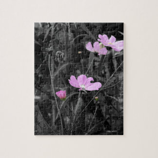 Tall Pink Poppies in the wind Jigsaw Puzzle
