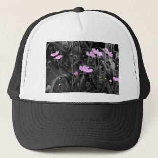 Tall Pink Poppies in the wind Trucker Hat
