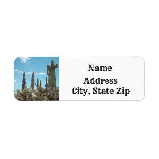 Tall Saguaro Cactus Desert Themed Address