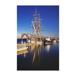 Tall Ship at Dock Canvas Print
