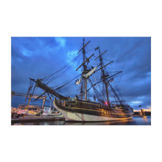 Tall Ship at Night Canvas Print