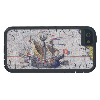 Tall Ship Map of the Pacific Ocean iPhone 5 Cases
