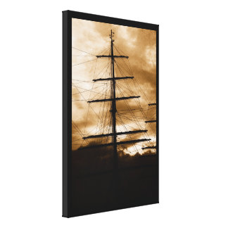 Tall ship mast canvas print