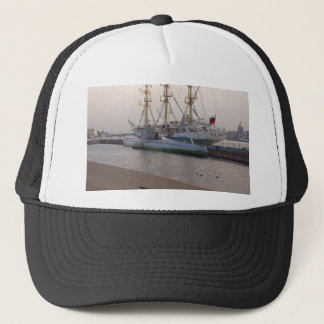 Tall Ship Mir And Submarine Trucker Hat