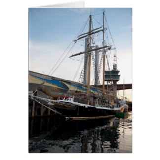 Tall Ship on water sailing boat Dunrobin studios Card