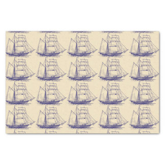 Tall Ship Outline Tissue Paper