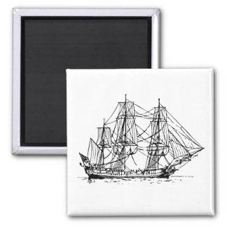 Tall Ship Print Fridge Magnet