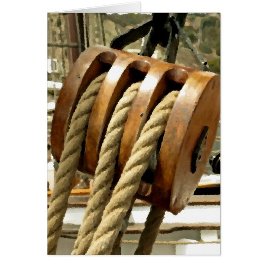 Tall Ship Pulley Card