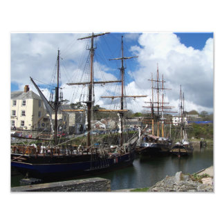 Tall Ships in Charlestown Harbour Cornwall Photo Print