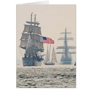 Tall Ships Leaving Charleston Harbor Note Card