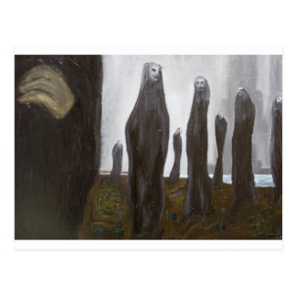 Tall Soldiers (black and white surrealism) Postcard