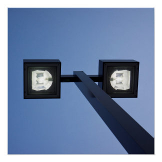 Tall streetlamp poster