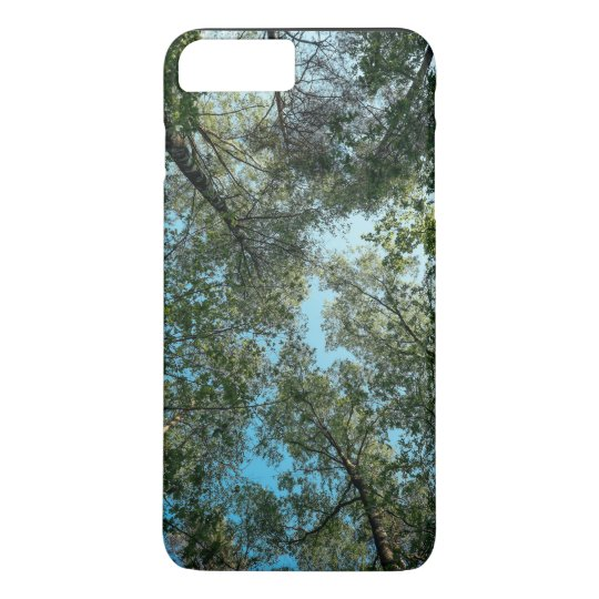 Tall trees hugging together in sky iPhone 8 plus/7 plus case
