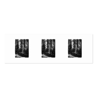 Tall Trees in Black and White. Business Cards