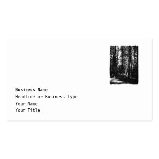 Tall Trees in Black and White. Business Card Templates