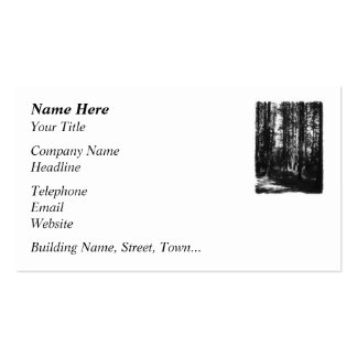 Tall Trees in Black and White. Business Card Template