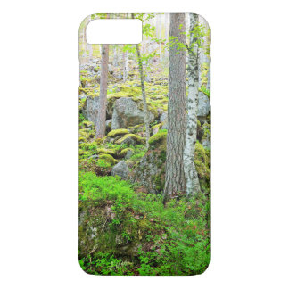 Tall Trees In Finland'S Forest On Granite Rocks An iPhone 7 Plus Case