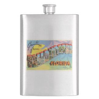Tallahassee Florida FL Old Vintage Travel Souvenir Flask