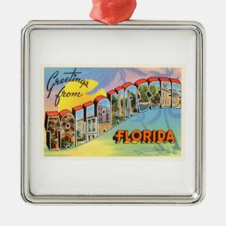 Tallahassee Florida FL Old Vintage Travel Souvenir Metal Ornament