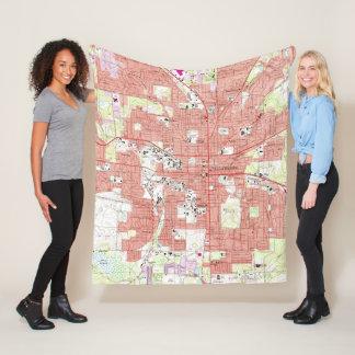 Tallahassee Florida Map (1970) Fleece Blanket