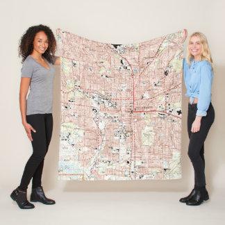 Tallahassee Florida Map (1999) Fleece Blanket