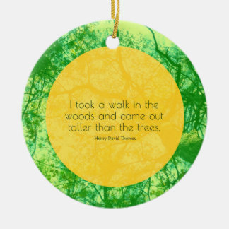 Taller then the Trees Round Ceramic Ornament