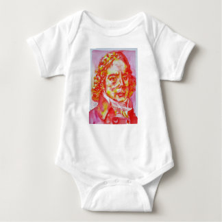 talleyrand - watercolor portrait baby bodysuit