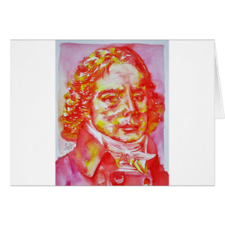 talleyrand - watercolor portrait card