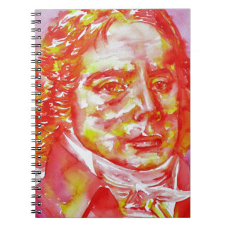 talleyrand - watercolor portrait notebook