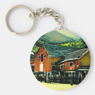 Tallheo Cannery Bella Coola Basic Round Button Keychain
